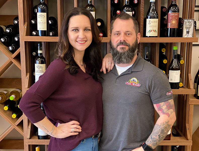 Tommy & Amanda Neel, General Managers, Four Winds Fine Foods